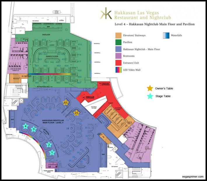Hakkasan Nightclub Map