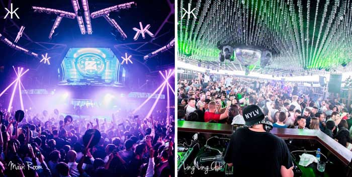 Photos of Main Room & Ling Ling Inside Hakkasan