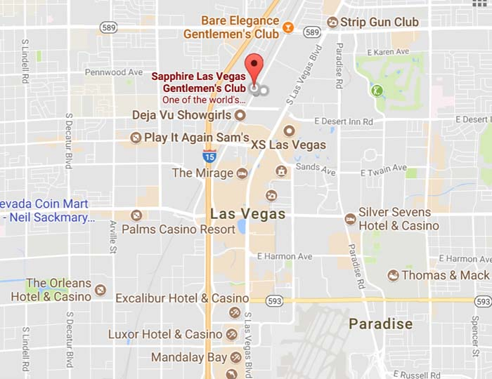 Sapphire Las Vegas Is Located Just Minutes From Las Vegas Blvd.