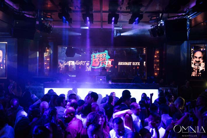 "A photo of the DJ booth and dance floor at Heart of Omnia's industry night ""wild at heart"""