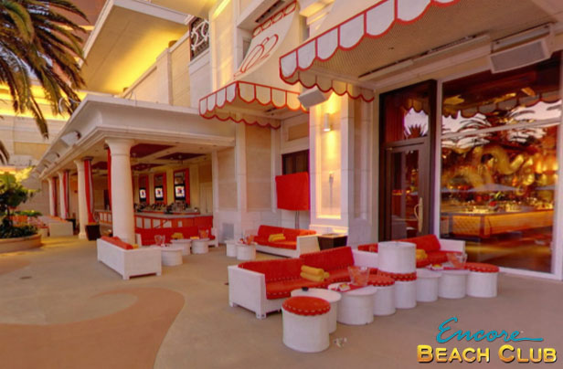 A photo showing the DJ Tables at Encore Beach Club.