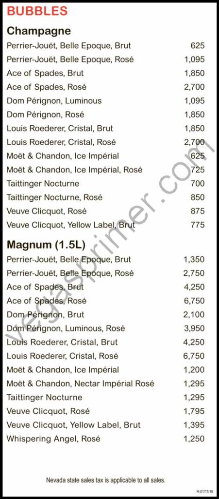 Champagne and Magnum options at EBC