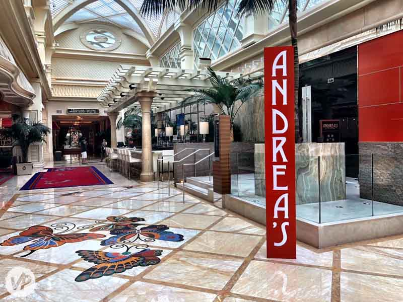 Image showing how to get to Encore Beach Club from inside the Encore hotel.