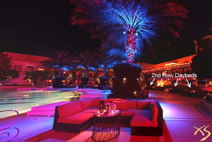 A photo of the 2nd Row Daybeds at XS Las Vegas