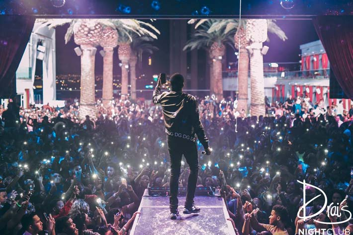 Meek Mill performs to a sold out crowd at Drai's Nightclub