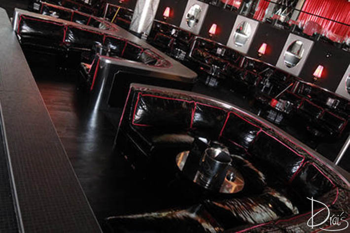 One of the biggest table options at Drai's Nightclub. This is where the owners sit when they're in the club.
