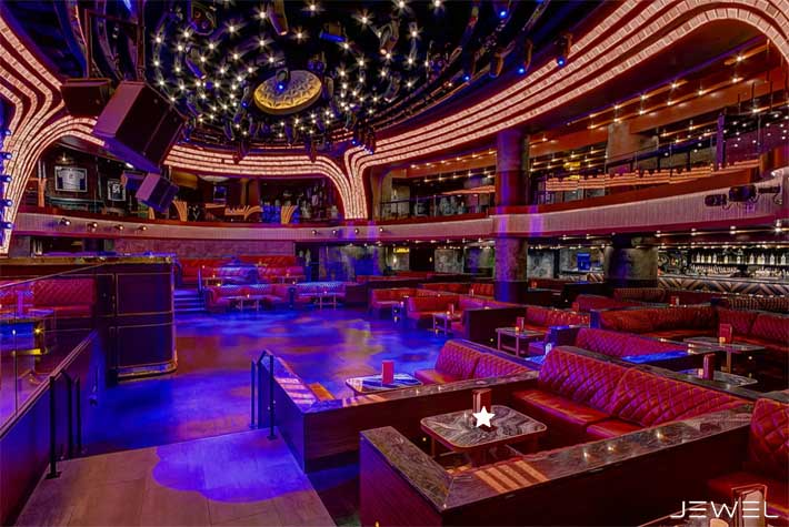 A picture of the upper dance floor tables