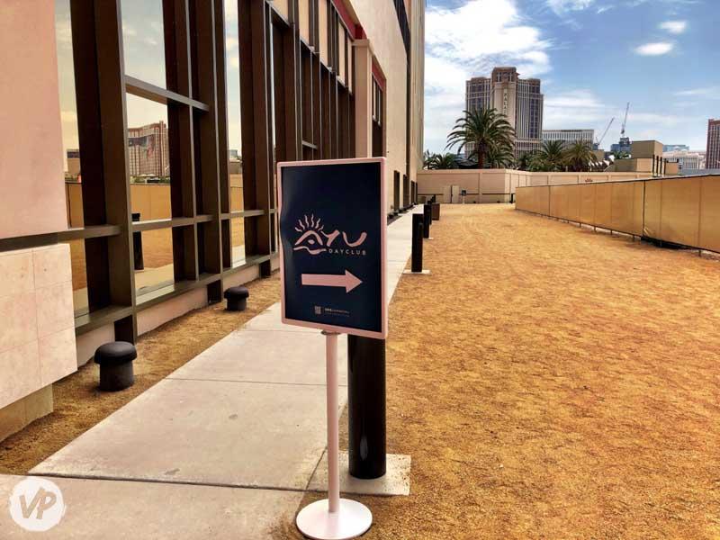 Sidewalk to Ayu Dayclub in Las Vegas