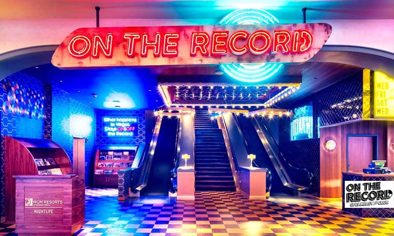 On The Record club entrance in Las Vegas