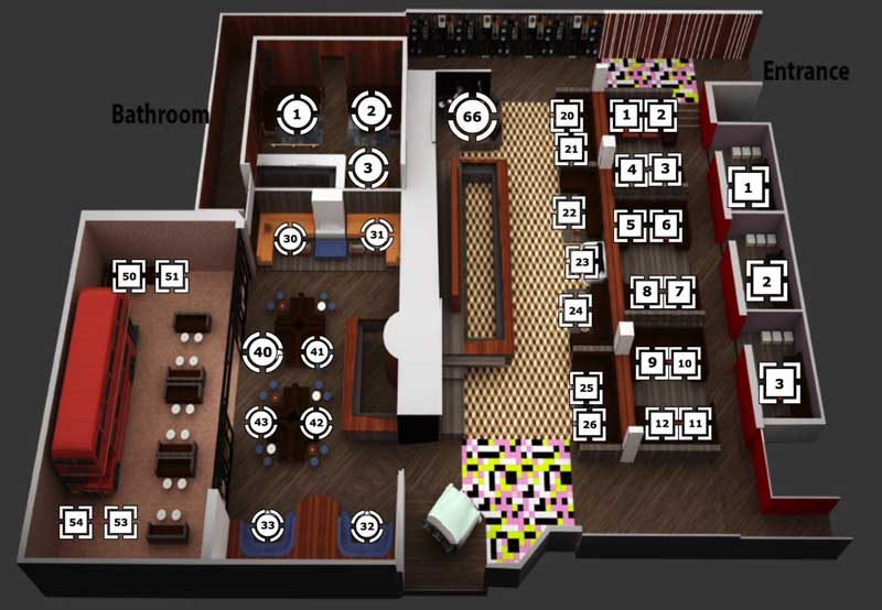 On The Record Floor Plan & Table Map